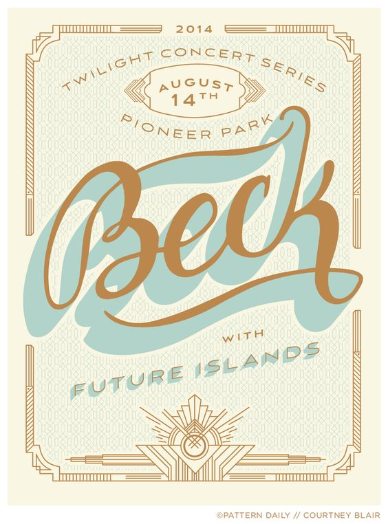Beck // Gig Poster // Courtney Blair
