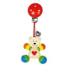 HEIMESS Clip Figur Herzbär mit Clip, Babyspielzeug aus Holz, www.holzdingens.de