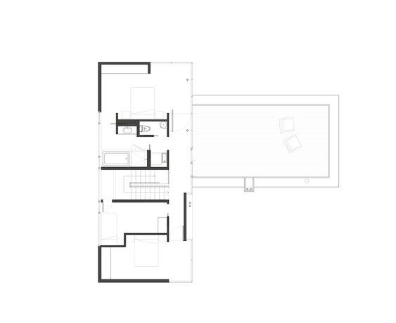 Casa na Ilha Gambier,Planta Baixa - Pavimento Superior