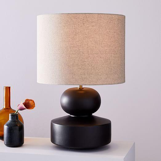 Modern Totem Table Lamp 21 5 West Elm Modern Table Lamp Table Lamp Lamp