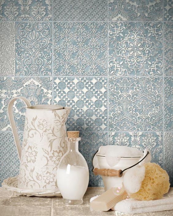 Moroccan Tileu0027 Geometric Tile Effect Wallpaper in Grey, Beige - fliesen tapete küche