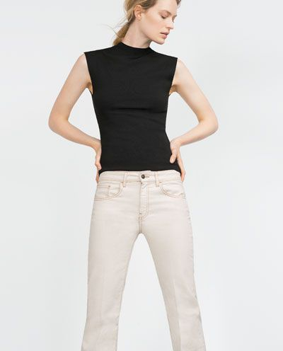 Image 1 of HIGH NECK TOP from Zara