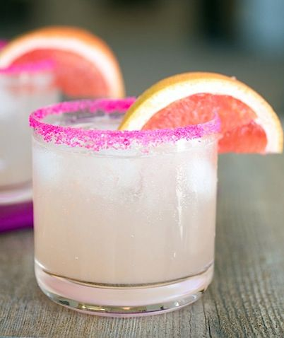 Triple Grapefruit Fizz Cocktail - with fresh grapefruit juice, grapefruit vodka, and grapefruit soda