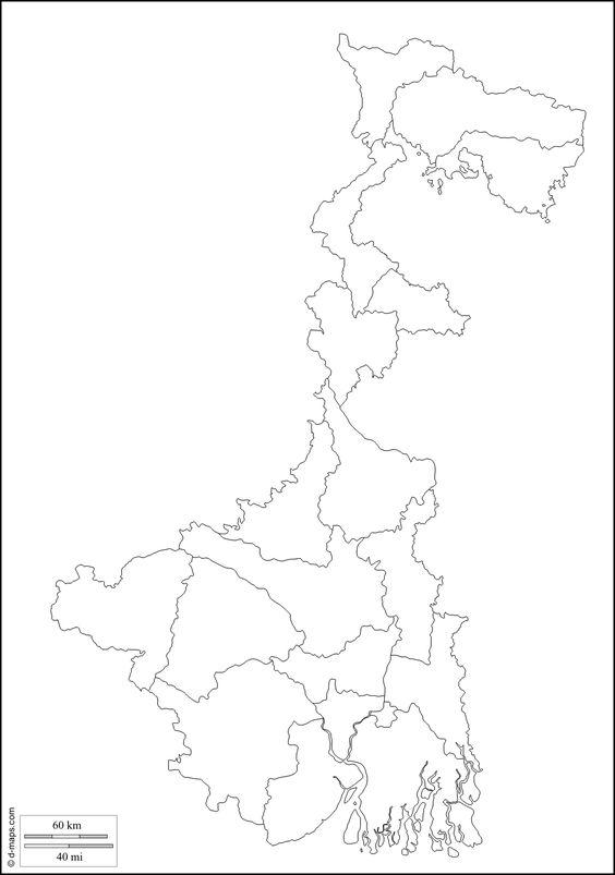 West Bengal Free Map Free Blank Map Free Outline Map Free - Blank map of the west