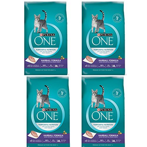 Purina One Hairball Formula Adult Dry Cat Food 16 Lb 4 Bag Thank You For Having Visited Our Photograph This Is Our Affiliate Link Dry Cat Food Cat Food