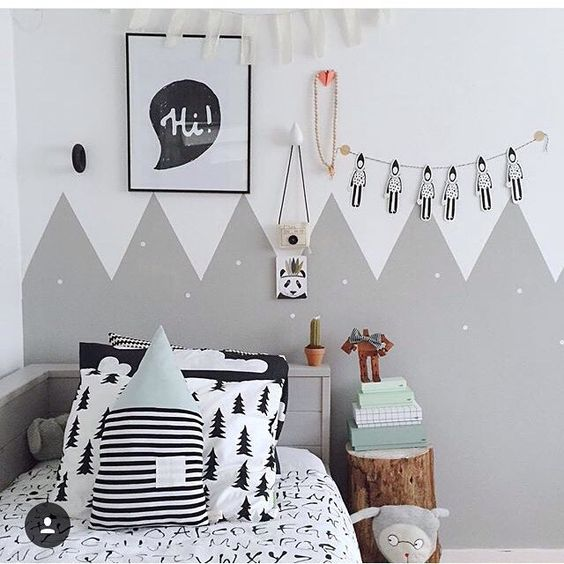 Belle grau and design on pinterest for Kinderzimmer berge