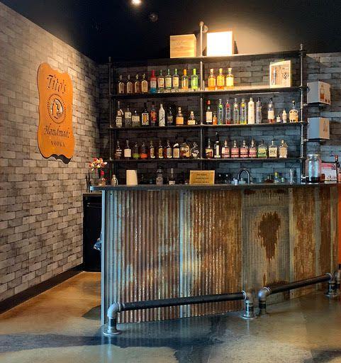 Rustic Bar With Dakota Tin Panels