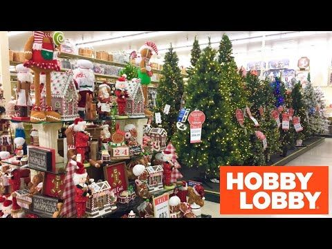 Hobby Lobby Christmas Decorations Christmas Trees Decor Shop With Me Shopping Sto In 2020 Hobby Lobby Christmas Decorations Hobby Lobby Christmas Christmas Decorations