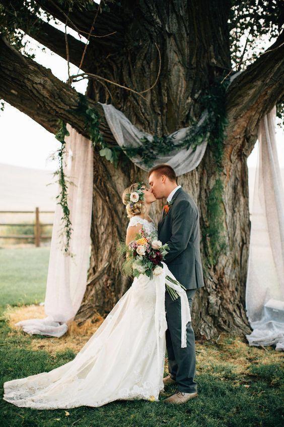 Wedding Sites Wedding Photo Ideas Make Your Own Wedding Decorations Ideas 2019 Backyard Wedding Decorations Backyard Wedding Ceremony Tree Wedding Ceremony