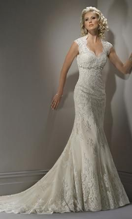 bernadette by maggie sottero - the lace neckline is fantastic