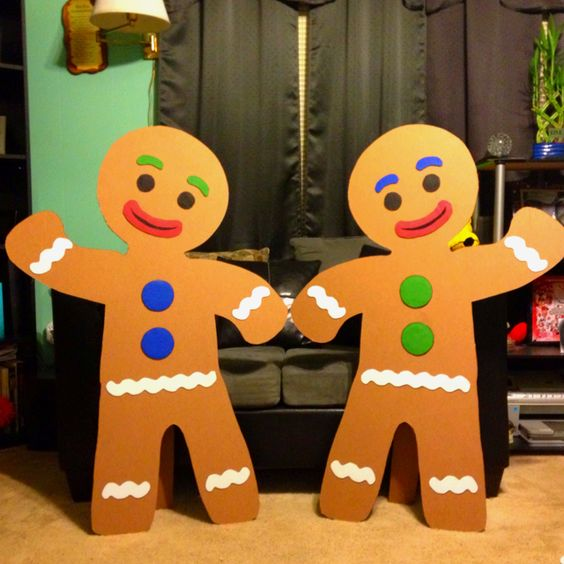 My husband made these out of cardboard for a candy land b day theme cute crafts pinterest - Decorations for gingerbread man ...