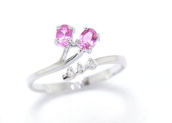 R1183 Sterling Silver Pink Tourmaline Ring. by YouLoveThailand