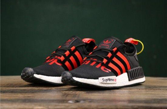 Adidas NMD R1 PK x 'Supreme' Black Red Custom