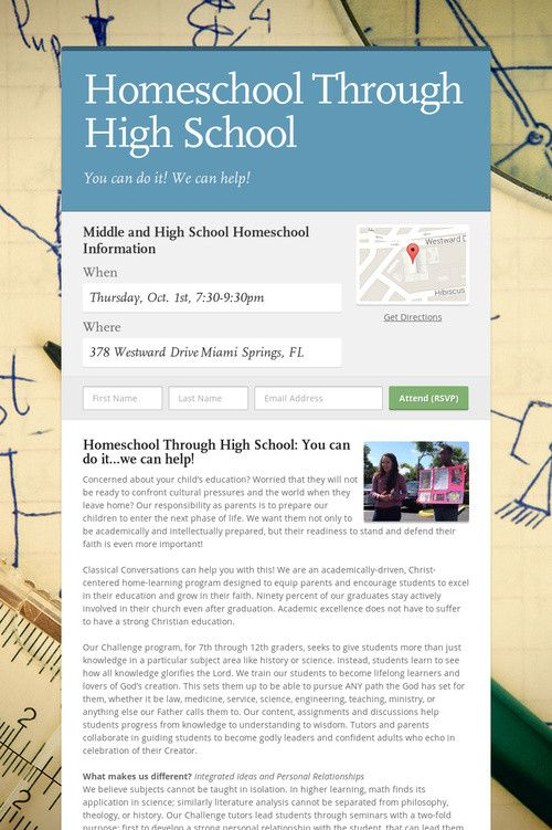 Help spread the word about Homeschool Through High School. Please share! :)