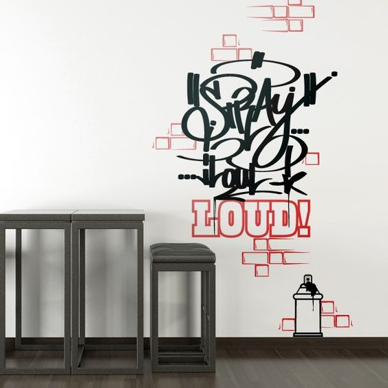 graffiti wandtattoo wandsticker wandtattoos walltattoo wandtatoo tomzerest pinterest. Black Bedroom Furniture Sets. Home Design Ideas