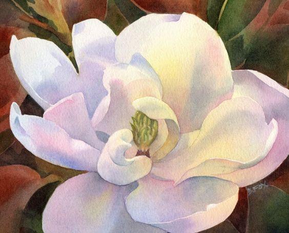 Daily Paintworks Original Fine Art C Barbara Fox Watercolor Flowers Paintings Floral Watercolor Floral Painting