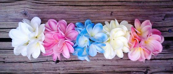 Plumeria Bouquet Frangipani Bouquet Pink by SilkFlowersByJean, $90.00