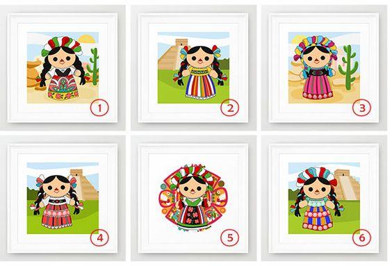 Muñecas de trapo mexicanas