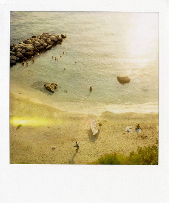 """""""Capri Beach 3""""    Limited Edition Fine Art Polaroids shot by Patrick Cline for Lonnymag.com during their travel adventures. These reproductions from the original Polaroids are enlarged to 20x24"""" include white Polaroid border, and are front Plexi-mounted 1/8"""" ready to hang. This piece is # 1 in an Edition of 200."""