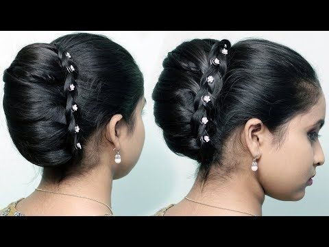 New Party Wear Bun Hairstyles French Bun French Roll French Twist Updo Cute Hair Style Girl Y Bun Hairstyles Braided Bun Hairstyles French Roll Hairstyle