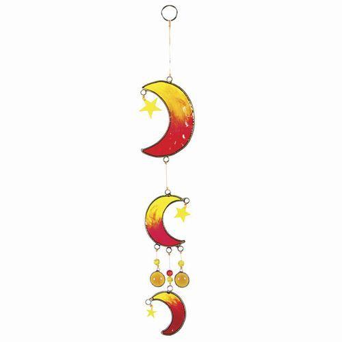 Celestial Triple Moon & Star Suncatcher