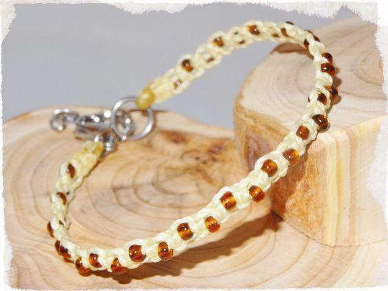 Armband ☼ Suave ☼ Glasperlen ☼ vanille von Sunnseitn Kunsthandwerk auf DaWanda.com