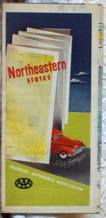 http://ajunkeeshoppe.blogspot.com/  ROAD MAP 1948 Triple A Routes Of 21 States North Eastern United States AAA