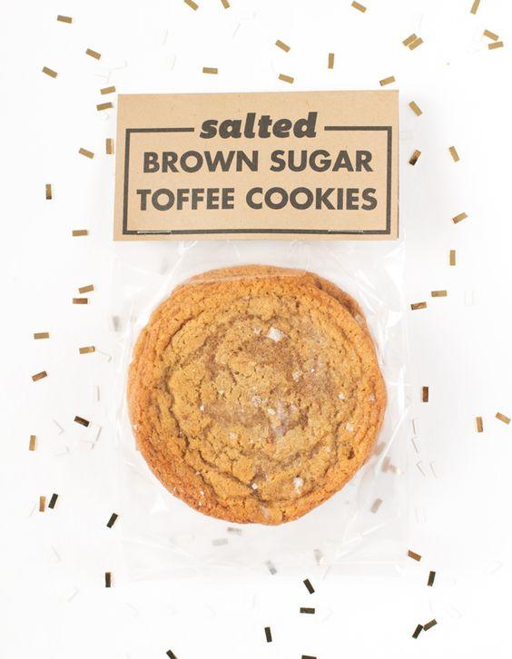Salted Brown Sugar Toffee Cookies and Printable // Wit & Vinegar