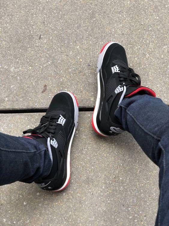 Air Jordan 4 Retro Og Bred 2019 Shoes Jordans Tennisshoes Zapatillas Jordan Jordan Zapatillas