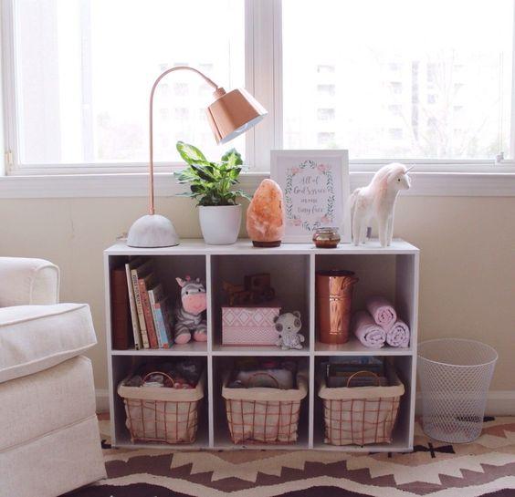rose gold nursery decor boho storage cubes and cubes. Black Bedroom Furniture Sets. Home Design Ideas
