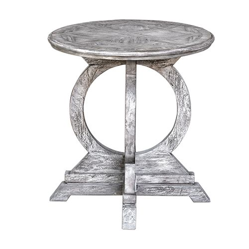 Uttermost 25426 Maiva Accent Table In White Title 20 Compliant