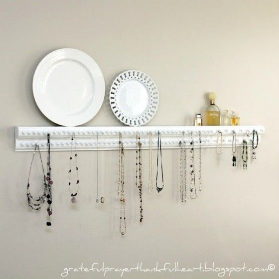 Wood Trim and Tacks - Creative Ways to Display and Organize Your Jewelry …