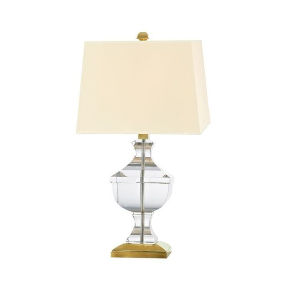 Clyde Hill Collection Large Crystal Table Lamp