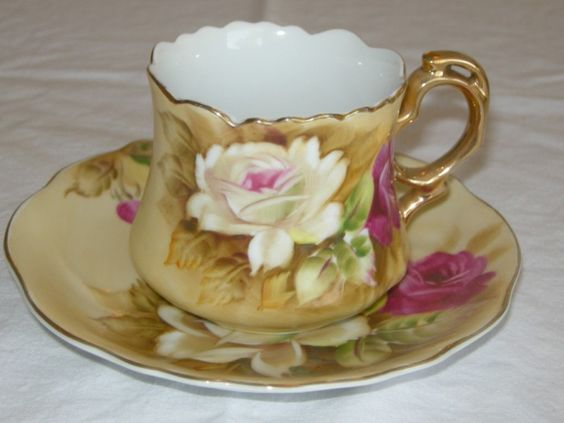 Value Lefton China Hand Painted Tea Cup
