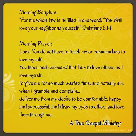 Morning Scripture and Prayer #atruegospelministry