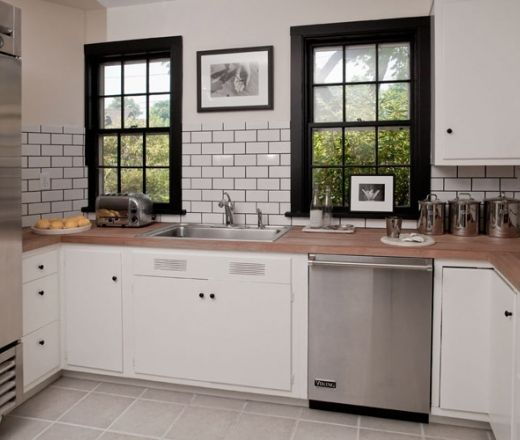 Black Kitchen Cabinets With Butcher Block Countertops: Pinterest • The World's Catalog Of Ideas