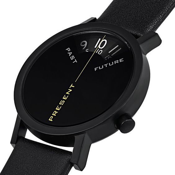 Past Present amp Future Watch In Black Watches Presents And