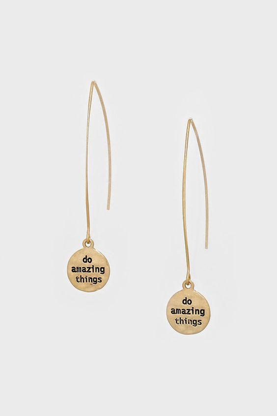 Do Amazing Things Earrings