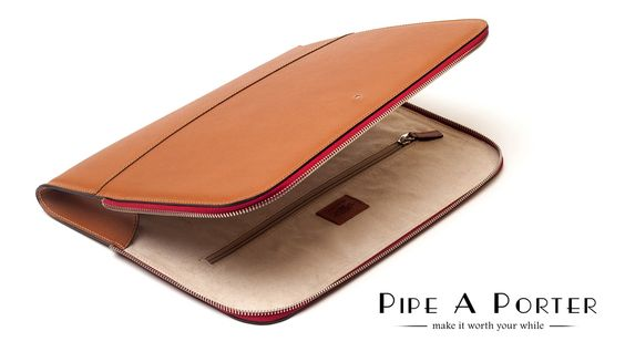Savinelli Zipped document/notebook folder - tobacco only on www.pipeaporter.com