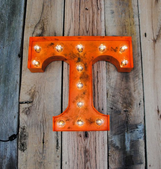 University of Tennessee Power T weathered by ElementalArthouse