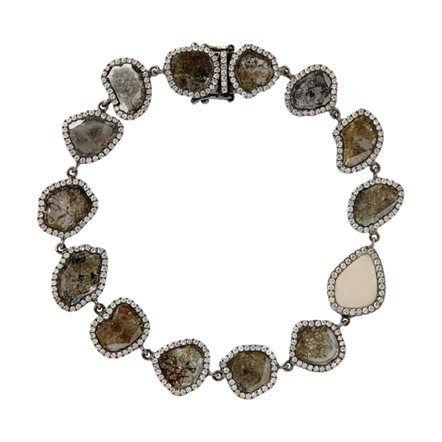 Monique Péan Woolly Mammoth & Diamond Slice Bracelet