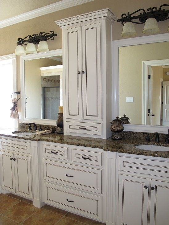 Master Bath- (different lighting) (darker wood) love how every thing is placed