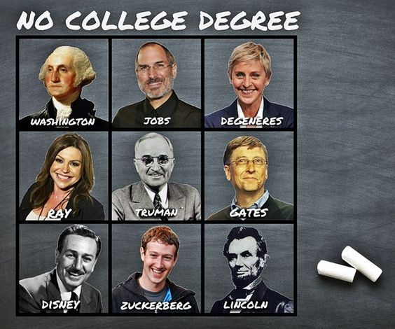 leaders w/o college degrees