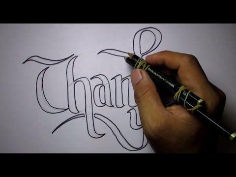 Cara Membuat Tulisan Keren Dengan 2 Pensil Youtube Tulisan Cara Menggambar Pensil