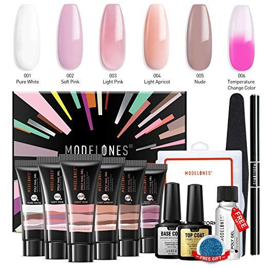 Modelones Polygel Kit Gel Nails Nail Kit Polygel Nails