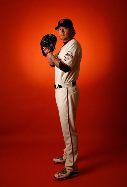 Pitcher Jake Peavy #22 of the San Francisco Giants poses for a portrait during spring training photo day at Scottsdale Stadium on February 27, 2015 in Scottsdale, Arizona. (February 26, 2015 - Source: Christian Petersen/Getty Images North America)