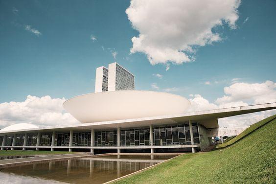 Congresso Nacional, 1960, by Oscar Niemeyer