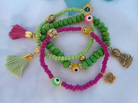 SALE BUDDHA'S  KARMA Bracelet Yoga Bracelets  Bohemian by Nezihe1, $21.00