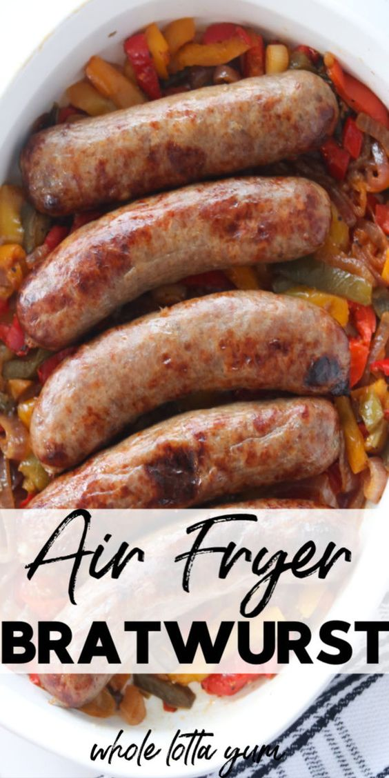 Easy Brats in Air Fryer