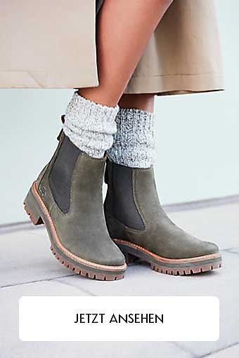 Timberland Courmayeur Valley Faux Fur Stiefel Damen taupe gray